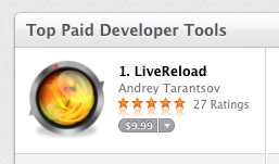LiveReload top developer tool